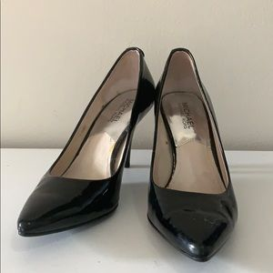 Michael Kors Black Pointed Patent Heel Pumps